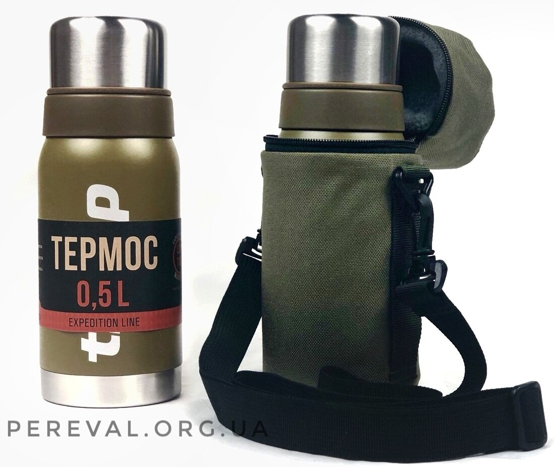 Термос Tramp Expedition Line 0,5 л TRC-030 оливковый
