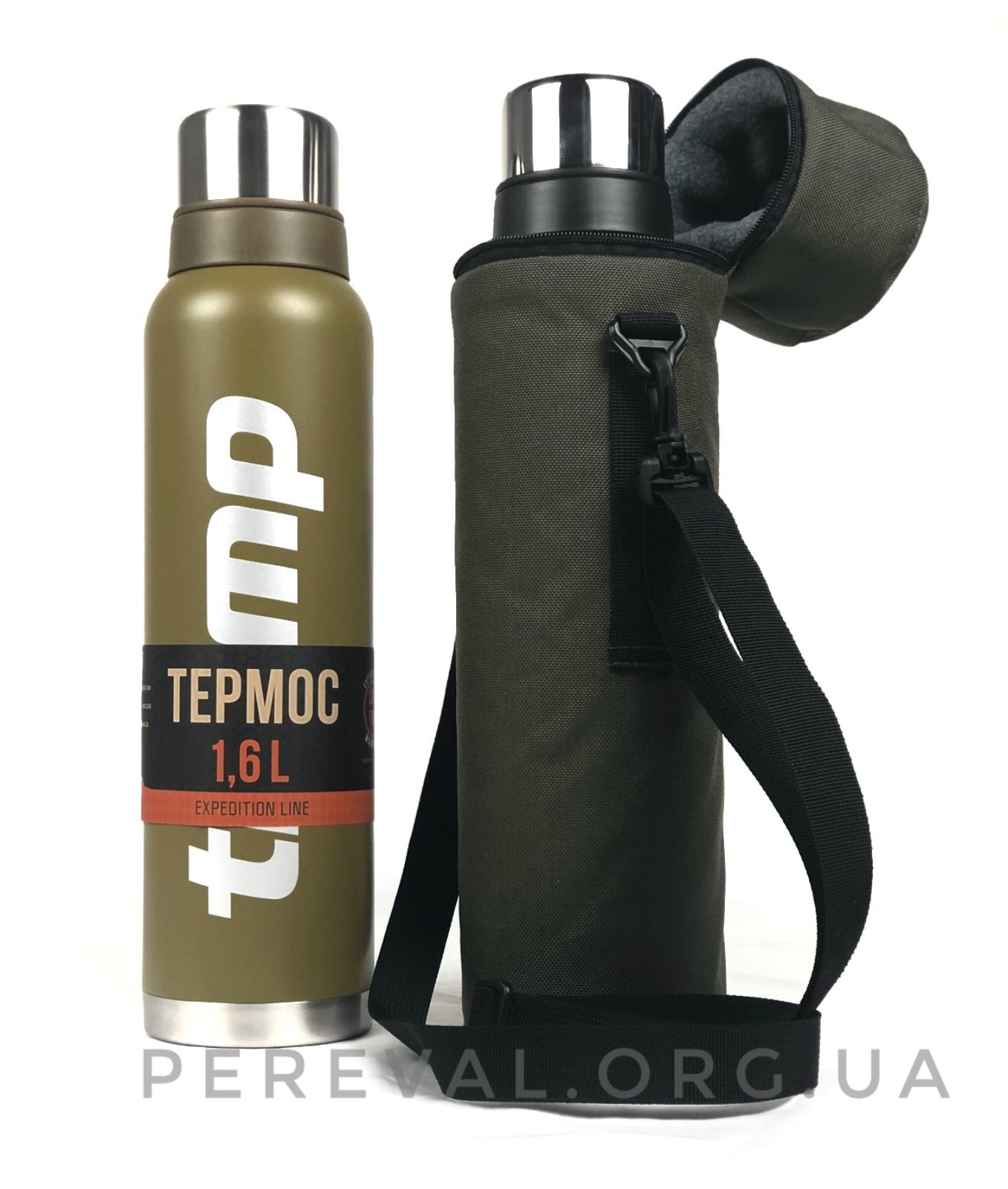 Термос Tramp Expedition Line 1,6 л TRC-029 оливковый